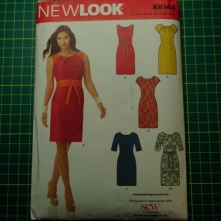 New look 6144 pleated front shift dress