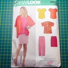 New Look 6217 t-shirt kimono trousers skirt pattern