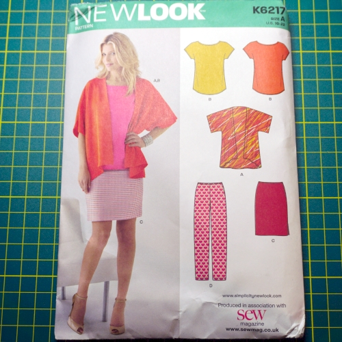 New Look 6217 t-shirt kimono trousers skirt pattern