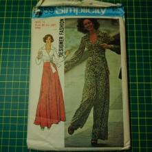 Simplicity 6659 wrap top wide leg trousers pants