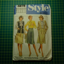 Style 3278 skirt blouse jacket vest