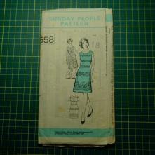 Sunday people 558 pleated shift dress