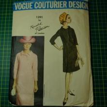 Vogue couturier Ronald Paterson 1391 side button coat