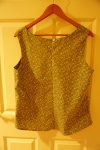 Great British Sewing Bee book - Sleeveless Shell Top Pattern. Back.