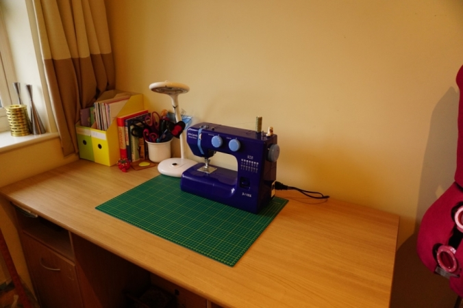 Quiet and tidy sewing room